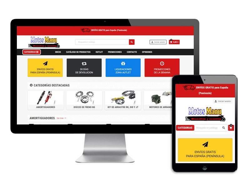 392029ded3f Tienda Online Motos Manu - Accesorios y recambios para motos baratos