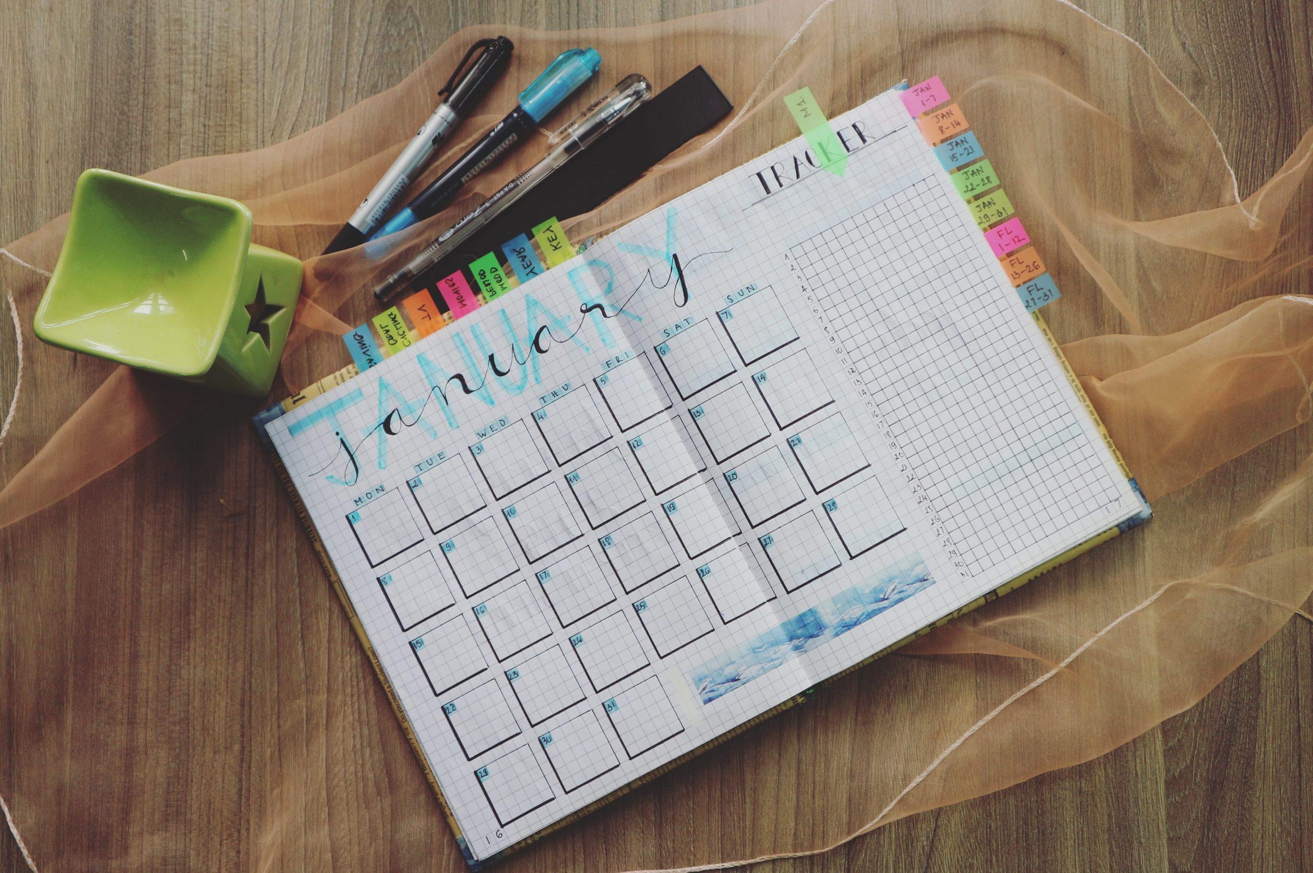 Un calendario editorial para organizar el trabajo de creación de contenidos.